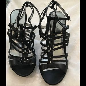 Strappy Xappeal Black Heel
